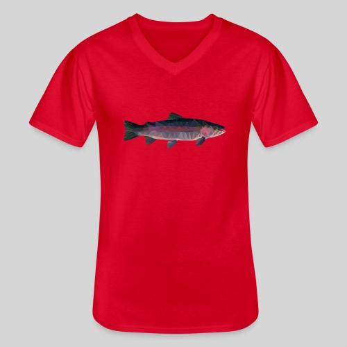 Trout - Klassinen miesten t-paita v-pääntiellä