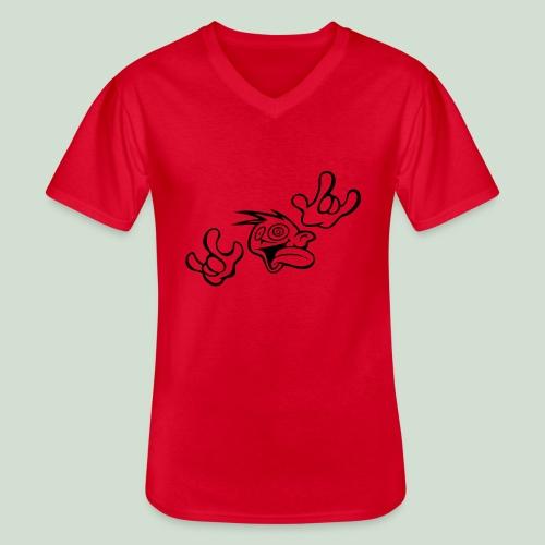 Verrückt nach DIR! - Klassisches Männer-T-Shirt mit V-Ausschnitt