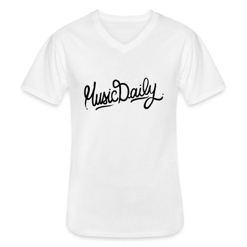 MusicDaily Logo - Klassiek mannen T-shirt met V-hals