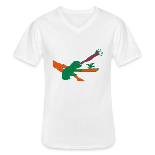 chameleon v1 - Klassisk T-shirt med V-ringning herr