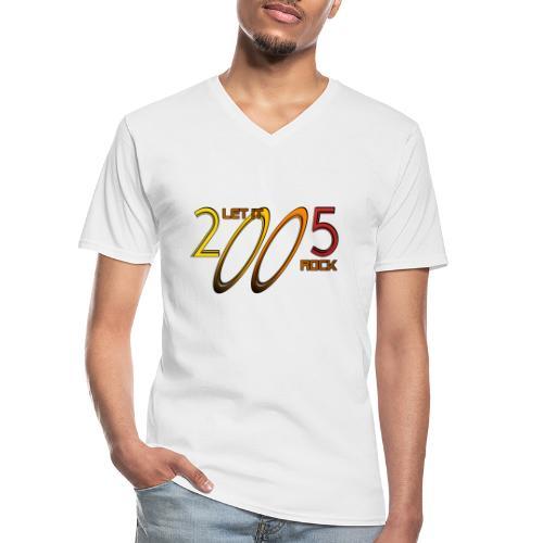 Let it Rock 2005 - Klassisches Männer-T-Shirt mit V-Ausschnitt