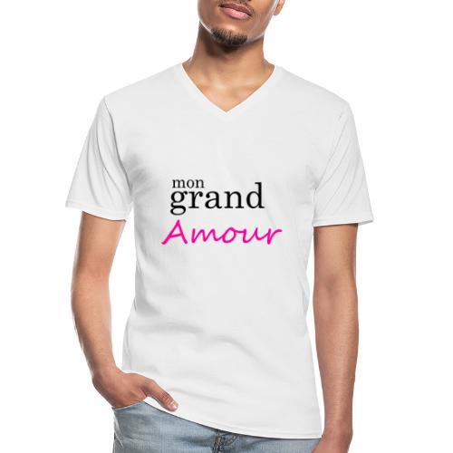 Mon grand amour - T-shirt classique col V Homme