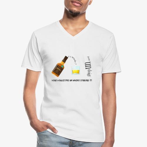 Un whisky ? Juste un doigt - T-shirt classique col V Homme