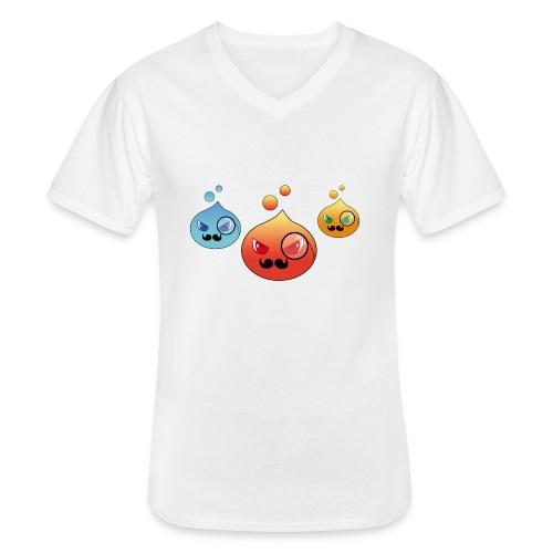 Outlezz - Gentlemen Slime - Klassisches Männer-T-Shirt mit V-Ausschnitt
