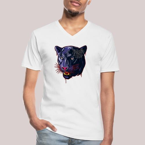 The Pagan Ash Panther - Klassisk T-shirt med V-ringning herr