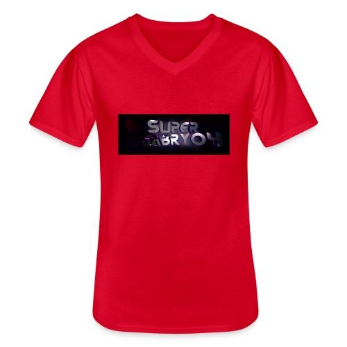 SUPERGABRY04 - Maglietta da uomo classica con scollo a V