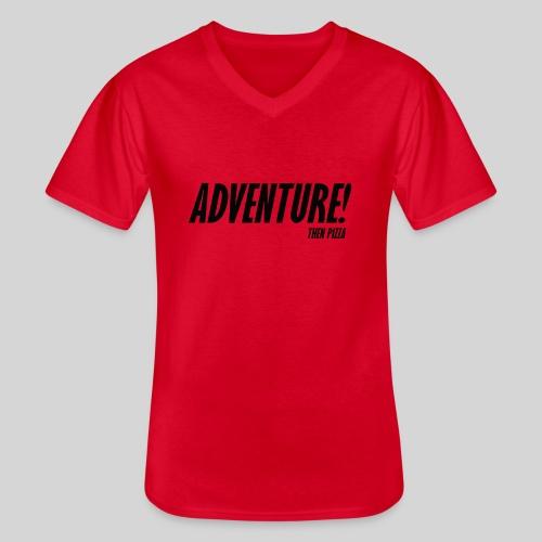 Adventure - Klassinen miesten t-paita v-pääntiellä