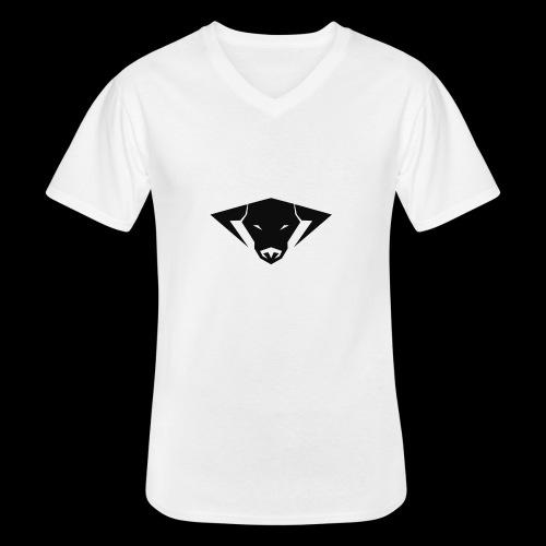 Big Size CRNG Bull SHirt - Klassisches Männer-T-Shirt mit V-Ausschnitt