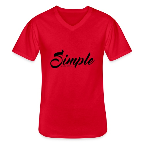 Simple: Clothing Design - Men's V-Neck T-Shirt