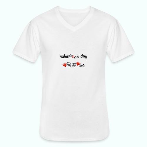 valenteens day - Klassisches Männer-T-Shirt mit V-Ausschnitt