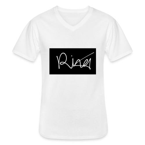 Autogramm - Klassisches Männer-T-Shirt mit V-Ausschnitt