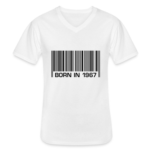 born in 1967 50th birthday 50. Geburtstag barcode - Men's V-Neck T-Shirt
