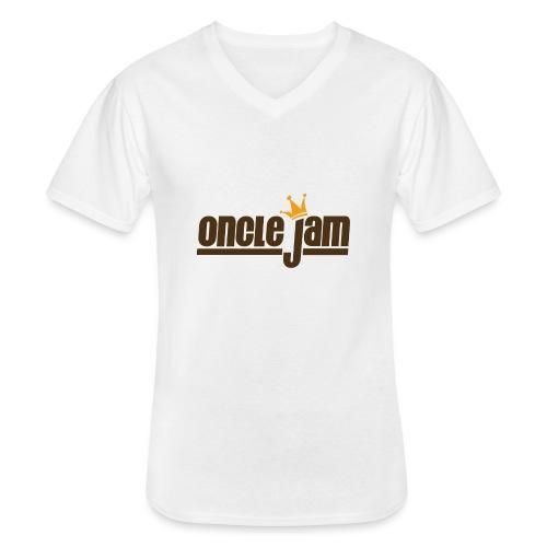 Oncle Jam horizontal brun - T-shirt classique col V Homme