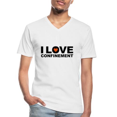 j aime le confinement - T-shirt classique col V Homme
