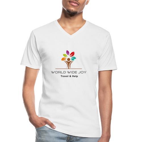 World Wide Joy Logo Subline - Klassisches Männer-T-Shirt mit V-Ausschnitt