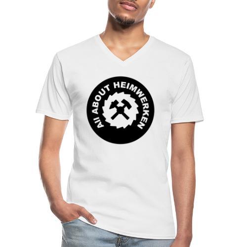 ALL ABOUT HEIMWERKEN - LOGO - Klassisches Männer-T-Shirt mit V-Ausschnitt