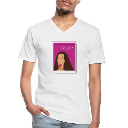 SUGAR - Camiseta clásica con cuello de pico hombre