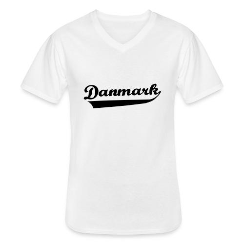 Danmark Swish - Klassisk herre T-shirt med V-udskæring
