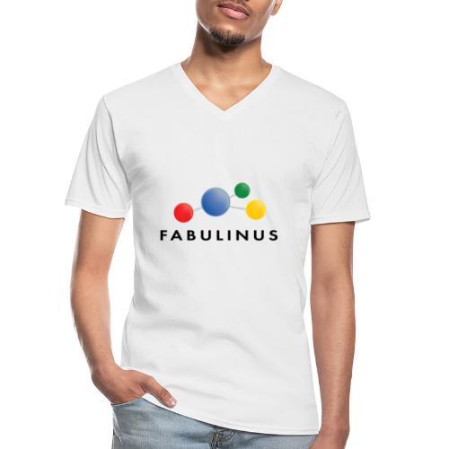 Fabulinus logo dubbelzijdig - Klassiek mannen T-shirt met V-hals