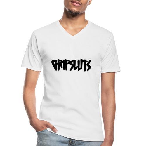 GRIPSLUTS - Klassisches Männer-T-Shirt mit V-Ausschnitt