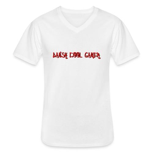 Dansk cool Gamer - Klassisk herre T-shirt med V-udskæring