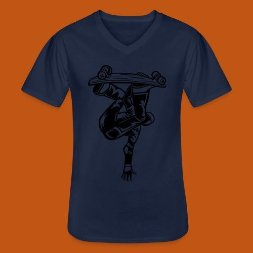Skater / Skateboarder 03_schwarz - Klassisches Männer-T-Shirt mit V-Ausschnitt