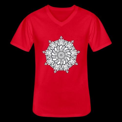 Mandala - Maglietta da uomo classica con scollo a V