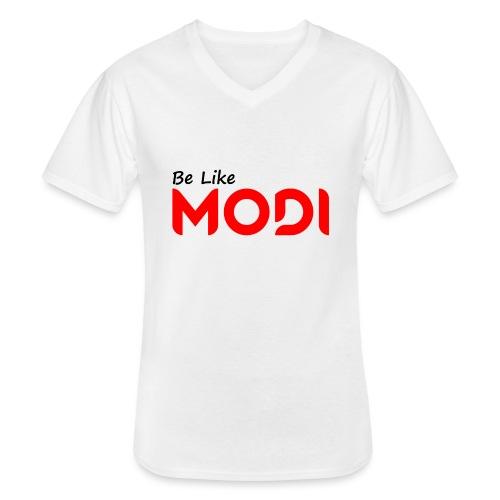 Be Like MoDi - Klasyczna koszulka męska z dekoltem w serek