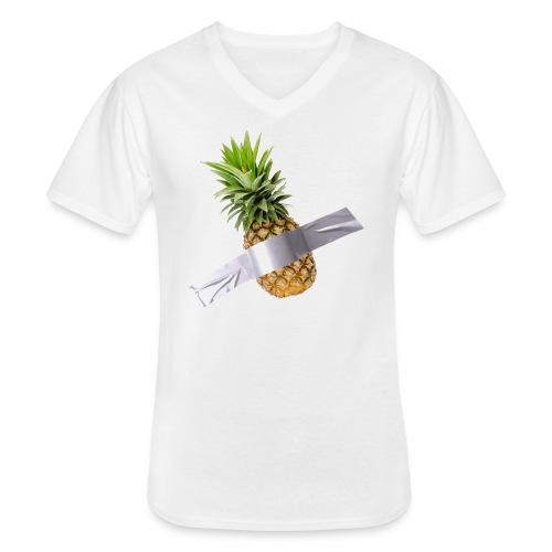 Pineapple Art - Maglietta da uomo classica con scollo a V