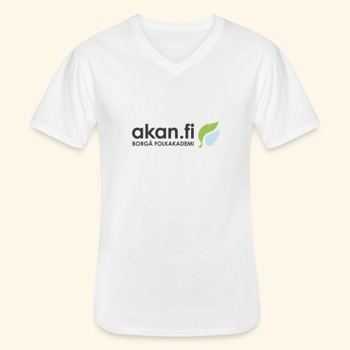 Akan Black - Klassisk T-shirt med V-ringning herr