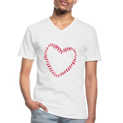 2581172 1029128891 Baseball Heart Of Seams - Men's V-Neck T-Shirt