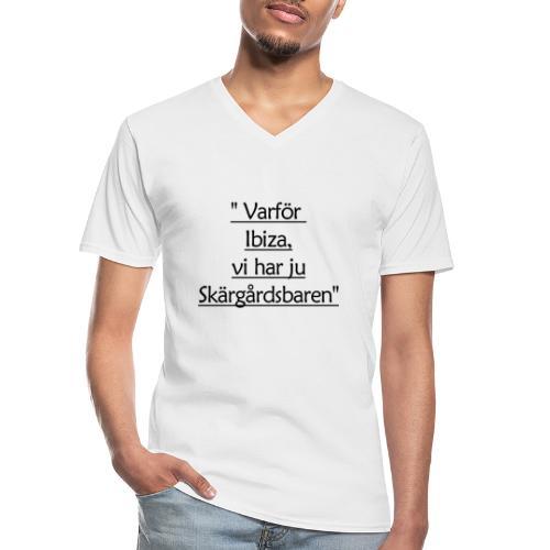Varför Ibiza - Klassinen miesten t-paita v-pääntiellä