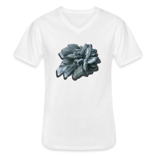 Gipsrose - Klassisches Männer-T-Shirt mit V-Ausschnitt