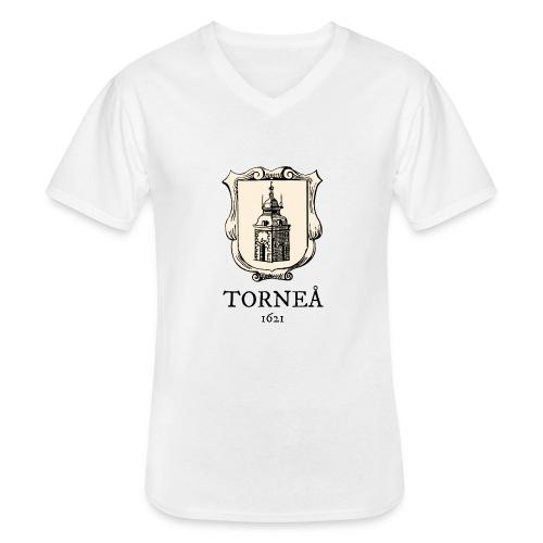 Torneå 1621 - Klassinen miesten t-paita v-pääntiellä