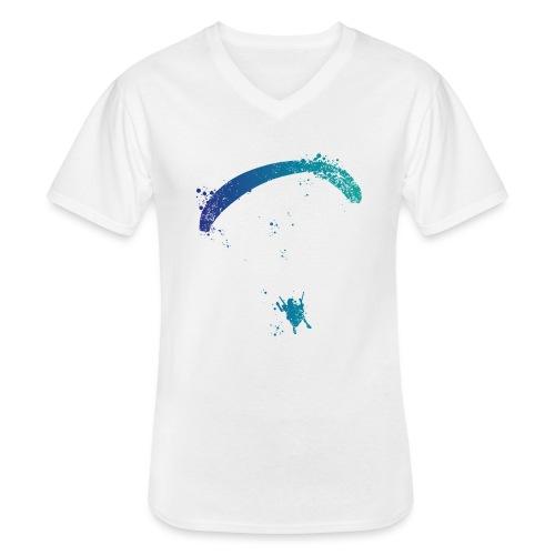 Gleitschirmflieger Spritzer - Klassisches Männer-T-Shirt mit V-Ausschnitt
