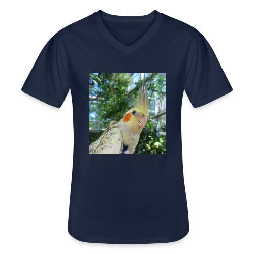 ninjanen - Klassinen miesten t-paita v-pääntiellä