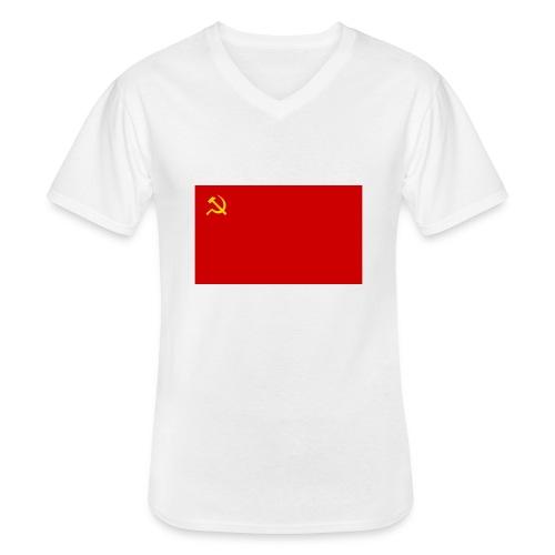 Eipä kestä - Klassinen miesten t-paita v-pääntiellä