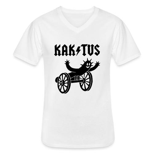 Kaktus Rock - Klassisches Männer-T-Shirt mit V-Ausschnitt
