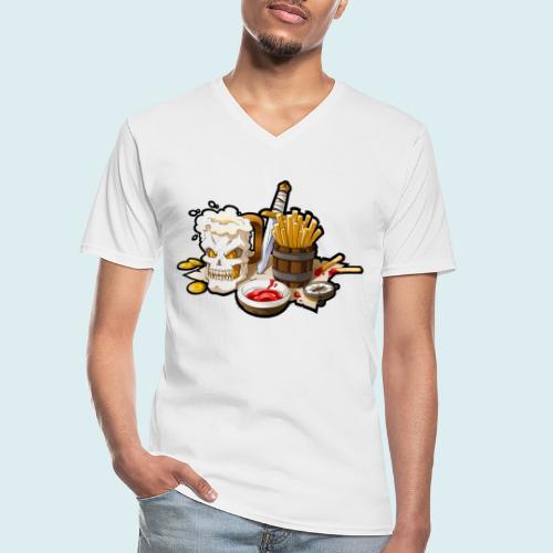 Arr menù - Maglietta da uomo classica con scollo a V