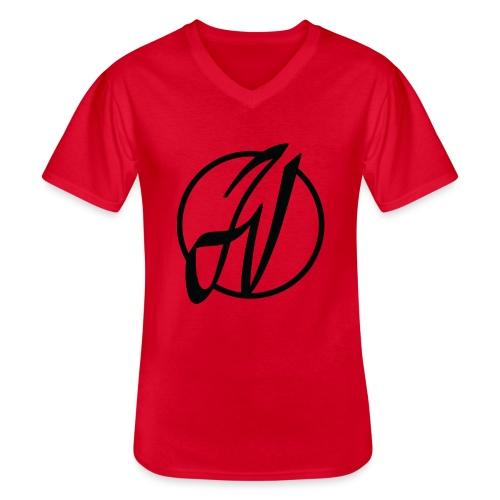 JV Guitars - logo noir - T-shirt classique col V Homme