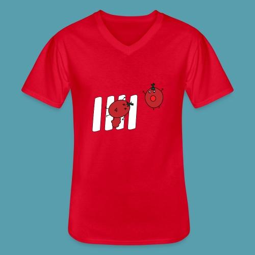 tomaatit - Klassinen miesten t-paita v-pääntiellä