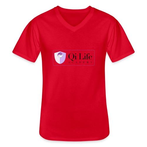 Qi Life Academy Promo Gear - Men's V-Neck T-Shirt