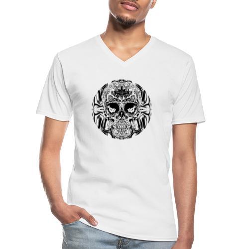 skull SW - Klassisches Männer-T-Shirt mit V-Ausschnitt