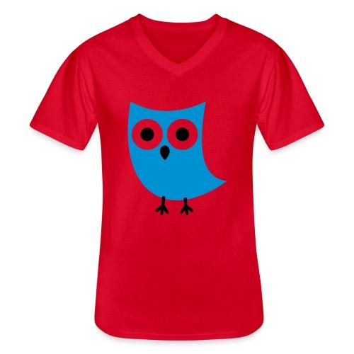 Uiltje - Klassiek mannen T-shirt met V-hals
