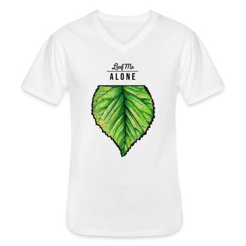 Leaf me Alone - Klassisches Männer-T-Shirt mit V-Ausschnitt