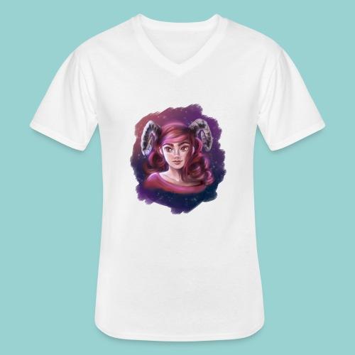 Artsy horns - Klassisches Männer-T-Shirt mit V-Ausschnitt