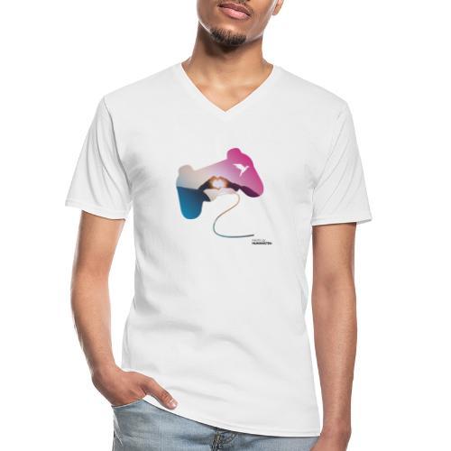 Controller: Wir lieben Gaming! - Klassisches Männer-T-Shirt mit V-Ausschnitt