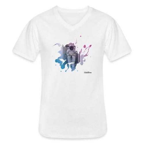 Fortschritt 4 s - Klassisches Männer-T-Shirt mit V-Ausschnitt
