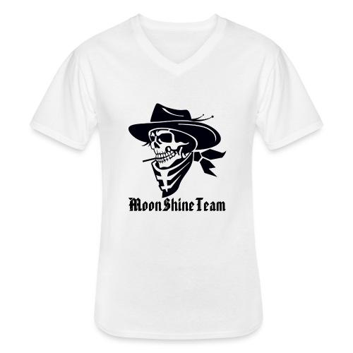 MoonShineTeam - Klassisches Männer-T-Shirt mit V-Ausschnitt