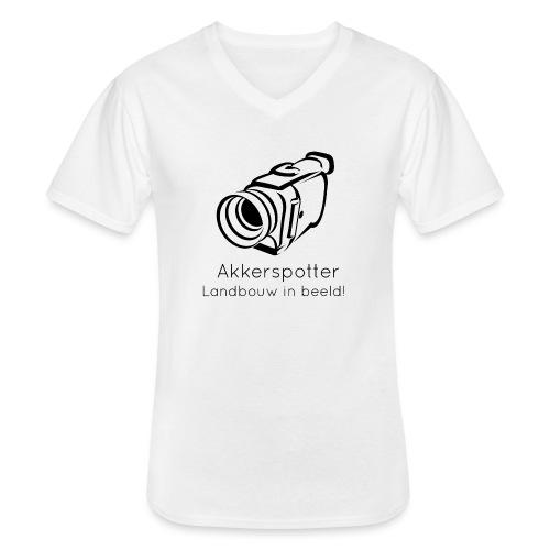 Logo akkerspotter - Klassiek mannen T-shirt met V-hals
